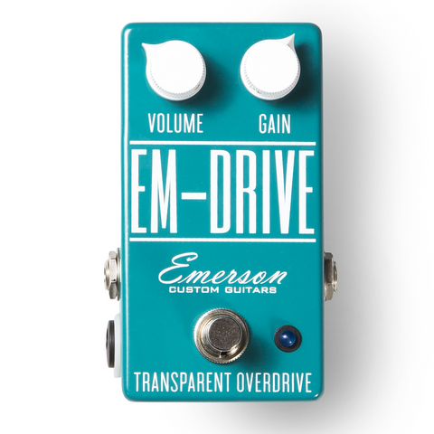 Emerson Custom EM-Drive Transparent Overdrive - Classic Turquoise - Available at Lark Guitars