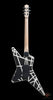 EVH Striped Series Star - Black with White Stripes (497) - Available at Lark Guitars