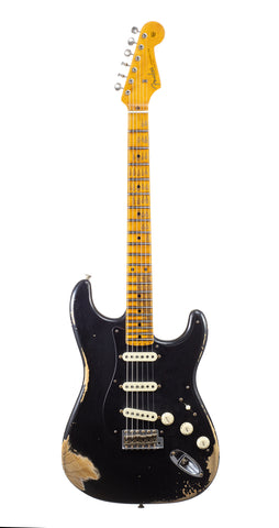 Fender Custom Shop 1957 Stratocaster Heavy Relic, Lark Guitars Custom Run -  Black