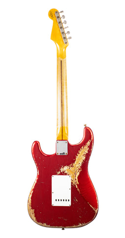 Fender Custom Shop 1957 Stratocaster Heavy Relic, Lark Guitars Custom Run -  Candy Apple Red (062)
