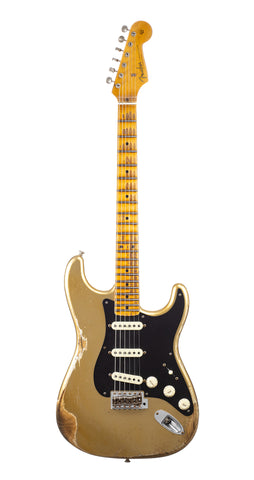 Fender Custom Shop 1957 Stratocaster Heavy Relic, Lark Guitars Custom Run -  Aztec Gold (110)