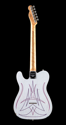 Fender Custom Shop Limited Edition Pinstriped Esquire - White Blonde (384) - Available at Lark Guitars