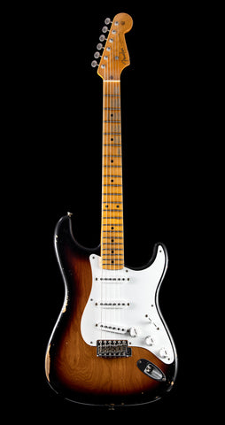 Fender Custom Shop Namm 2019 Top 20 Guitar, 1955 Relic Stratocaster - 2 Tone Sunburst (828)