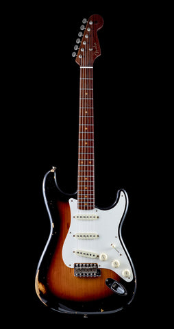 Fender Custom Shop NAMM Limited Edition Dual Mag Stratocaster Relic RW Neck - Wide Fade 3-Tone Sunburst (822) - Available at Lark Guitars