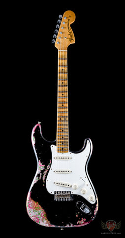 Fender Custom Shop NAMM Limited Edition 1969 Stratocaster Heavy Relic - Aged Black Over Pink Paisley (877) - Available at Lark Guitars
