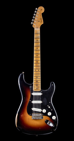 Fender Custom Shop Namm 2019 Top 20 Guitar, Ancho Poblano Strat, Shattered Journeyman Relic - 2 Tone Sunburst (446)