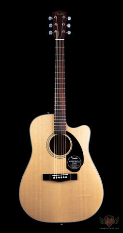 Fender Classic Design CD-60SCE Dreadnought Cutaway Acoustic Electric - Natural (849) - Available at Lark Guitars