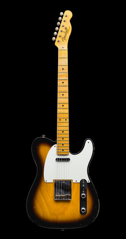 Fender Custom Shop '50s Telecaster Relic w/ 1-Piece LW Ash Body - 2 Color Sunburst (973)