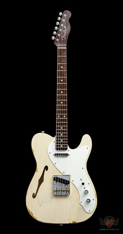 Fender Custom Shop Limited Edition '50s Thinline Telecaster Relic - Vintage Blonde (019) - Available at Lark Guitars