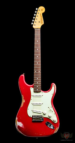 Fender Custom Shop 1960 Stratocaster Heavy Relic - Faded Dakota Red (650) - Available at Lark Guitars