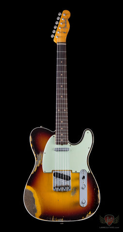 Fender Custom Shop 1960 Telecaster Custom Heavy Relic Chocolate 3 Tone Sunburst - (684)
