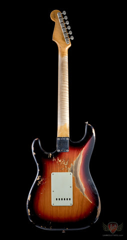 Fender Custom Shop LTD 2017 NAMM '60 Strat Heavy Relic 3 Tone Sunburst  - Ash Body(350)