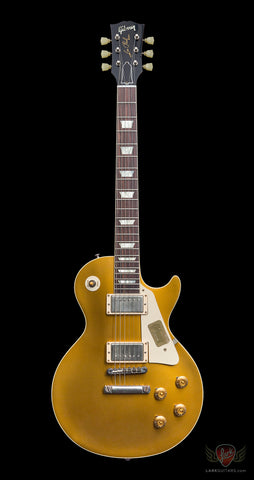 Gibson Custom CS7 50's Style Les Paul Standard VOS - Antique Gold (070) - Available at Lark Guitars