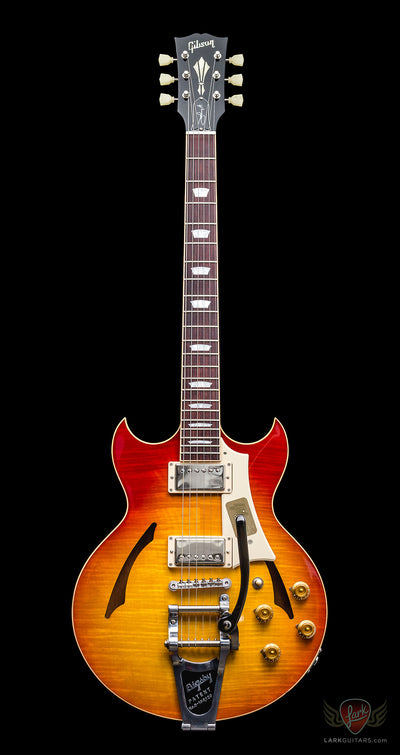 Gibson Memphis Johnny A Standard w/Bigsby - Bourbon Burst (130) - Available at Lark Guitars
