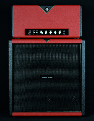 zSOLD - Divided By 13 AMW 39 Head & 2x12D Cabinet - Red & Black Tuxedo (D26) - Available at Lark Guitars
