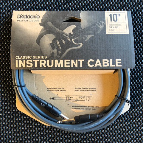 Planet Waves Classic Series Instrument Cable - 10' - PW-CGT-10 - Available at Lark Guitars