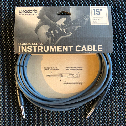Planet Waves Classic Series Instrument Cable - 15' - PW-CGT-15 - Available at Lark Guitars