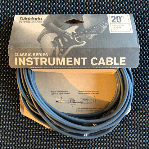 Planet Waves Classic Series Instrument Cable - 20' - PW-CGT-20 - Available at Lark Guitars