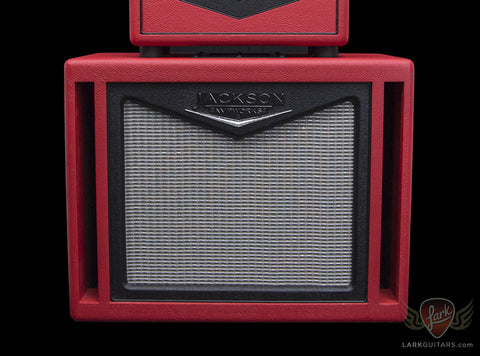 Jackson Ampworks 1x12 Dual Ported Cabinet w/G12M Creamback - Red & Black w/Silver Grill (020)
