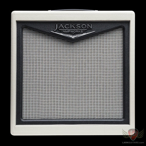 Jackson Ampworks 1x12 Open Back Cabinet w/G12C - Ivory & Black w/Silver Grill (007)
