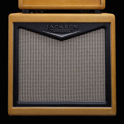 Jackson Ampworks 1x12 Open Back Cabinet w/Alnico Gold - Tweed & Black w/Silver Grill (003)