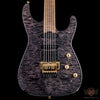 Jackson Signature Phil Collen PC1 Satin Stain, Caramelized Flame Maple Neck - Satin Transparent Black (610)