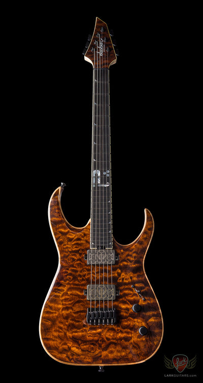 "Jackson USA Misha Mansoor Signature Juggernaut ""BULB"" HT6 - Amber Tiger Eye (180) - Available at Lark Guitars"