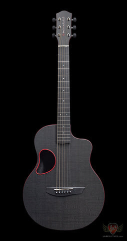 McPherson Kevin Michael Touring Carbon Fiber Guitar - Satin Top & Red Binding (515) - Available at Lark Guitars