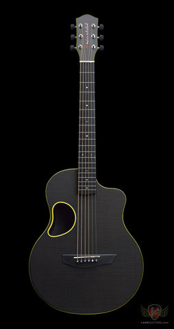 McPherson Kevin Michael Touring Carbon Fiber Guitar - Gloss Top & Yellow Binding (498) - Available at Lark Guitars