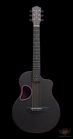 McPherson Kevin Michael Touring Carbon Fiber Guitar - Gloss Top & Pink Binding (503) - Available at Lark Guitars