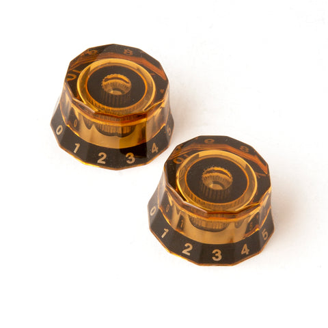 PRS Lampshade Knobs - Amber with Black Numbers