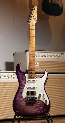 Tom Anderson Drop Top Shorty Quilt Maple Top - Natural Purple Burst