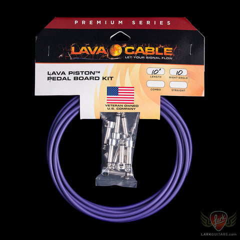 Lava Piston Mini Ultramafic Solder-Free Kit: 10' Cable & 10 Right Angle Plugs - LCPTKTR-U, Lava Cable - Lark Guitars