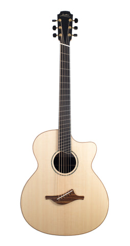Lowden Baritone BAR-35CFF Cutaway, Ancient Bog Oak, Lutz Spruce Top - (824)