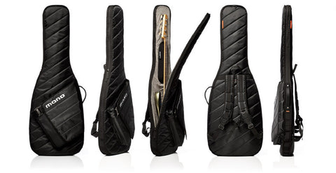 Mono M80 Bass Sleeve Electric Slim Case - Jet Black - M80-SEB-BLK - Available at Lark Guitars