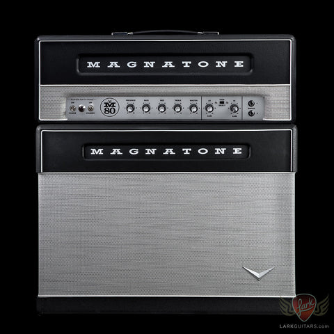 Magnatone Super Fifty-Nine M-80 Head and Master 2x12 Lighted Cabinet - Black (852) (793)