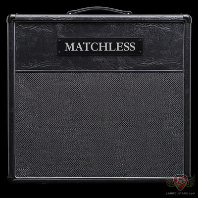 zSOLD - Matchless ESS 1x12 Cabinet - Black (007) - Available at Lark Guitars
