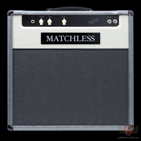 Matchless 30/15 1x12 Combo - Silver & White Sparkle w/Silver Grill (054) - Available at Lark Guitars