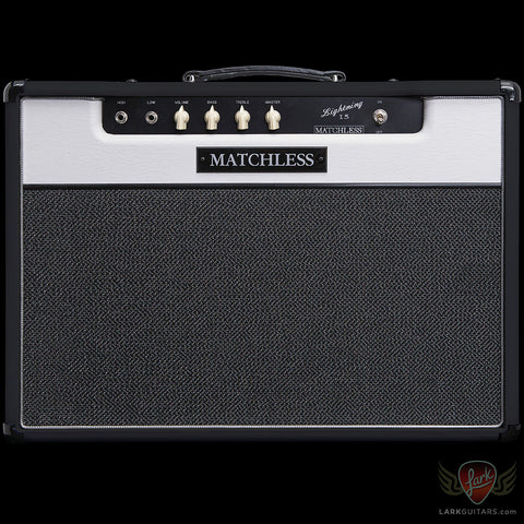 zSOLD - Matchless Lightning 1x12 Combo - Black & White w/Silver Grill (001), Matchless Amplifiers - Lark Guitars