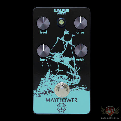 Walrus Audio Custom Mayflower Overdrive - Black & Teal w/Ultra Violet LED, Walrus Audio - Lark Guitars
