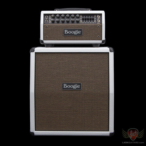 Mesa Boogie Mark Five 25 Head & 1x12 Mini Rectifier Slant Cabinet - White Bronco w/Gold Jute Grill (484) - Available at Lark Guitars