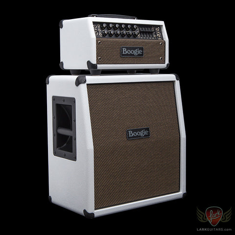 Mesa Boogie Mark Five 25 Head & 1x12 Mini Rectifier Slant Cabinet - White Bronco w/Gold Jute Grill (484), Mesa/Boogie - Lark Guitars