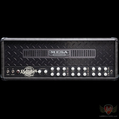 Mesa Boogie Dual Rectifier Head - Grey Taurus w/Black Diamond Face Plate (030) - Available at Lark Guitars