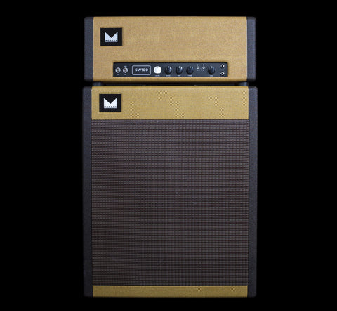 Morgan Amplification Custom Shop 2x12 Vertical Cabinet w/G12H Creamback - Tweed & Black Tweed w/Tan Grill (14B)