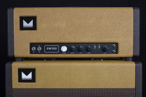 Morgan Amplification Custom Shop SW100 Head - Tweed & Black Tweed (14B)