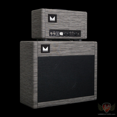 Morgan Amplification Custom Shop SW50 Head & 1x12 Cabinet w/G12H Creamback - Grey Flannel Chilewich (19B), Morgan Amplification - Lark Guitars