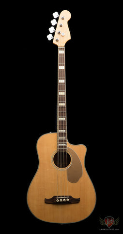 Pre-Owned Fender Kingman Acoustic Electric Bass w/Hardshell & Soft Case - Natural (496)