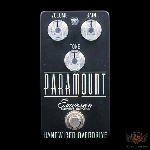 zSOLD - Pre-Owned Emerson Custom Paramount Overdrive - Matte Black (001), Pre-Owned Effects - Lark Guitars