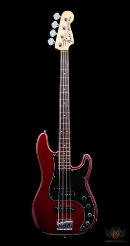 Pre-Owned Fender American Deluxe Precision Bass RW - Wine Transparent (035)