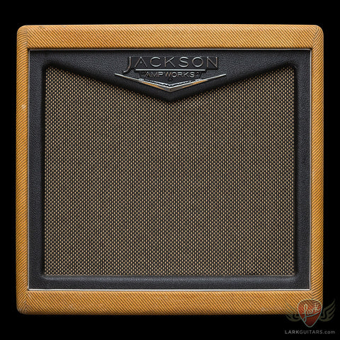 Pre-Owned Jackson Ampworks Fullerton 1x12 Combo w/WGS G12C  - Tweed w/Tan Grill (008) - Available at Lark Guitars